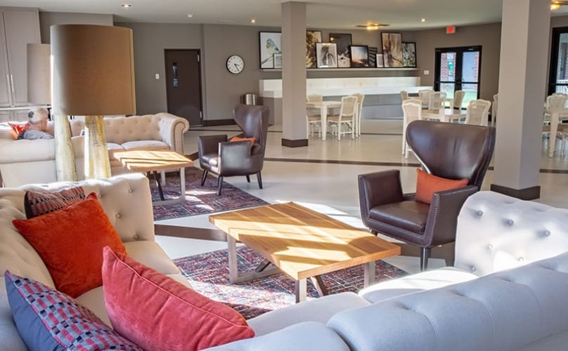Resident Clubhouse with ample seating