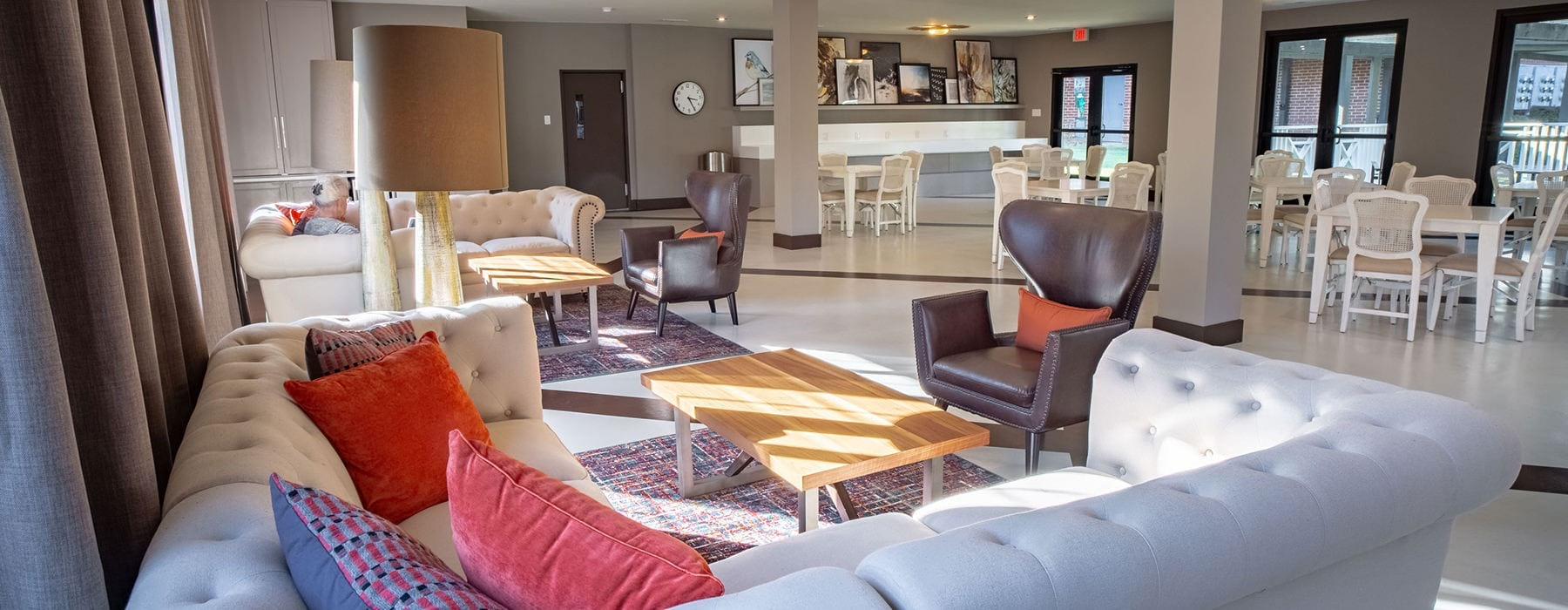 well lit Resident Clubhouse at our active adult apartments